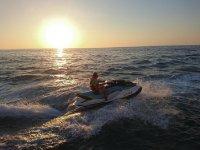 Jet ski ride through the calm waters of L 'Ametlla De Mar