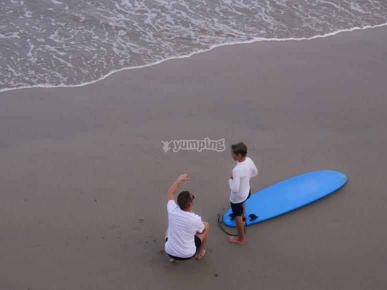 Listos para las clases de surf