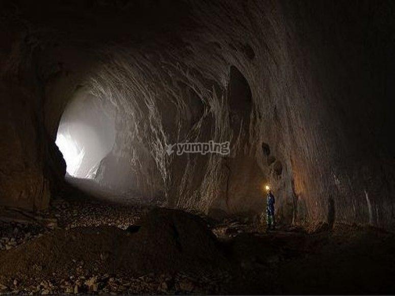 Speleology route