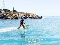 乘喷气冲浪在波多黎各卡波罗伊格一日游