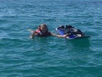 Caída desde la tabla de jet surf Alicante