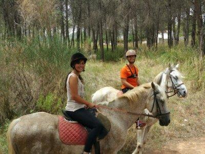 Ruta a Caballo Parque Natural del Garraf y clase
