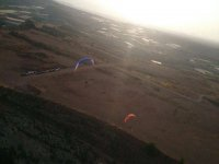 Dusk and paraglide
