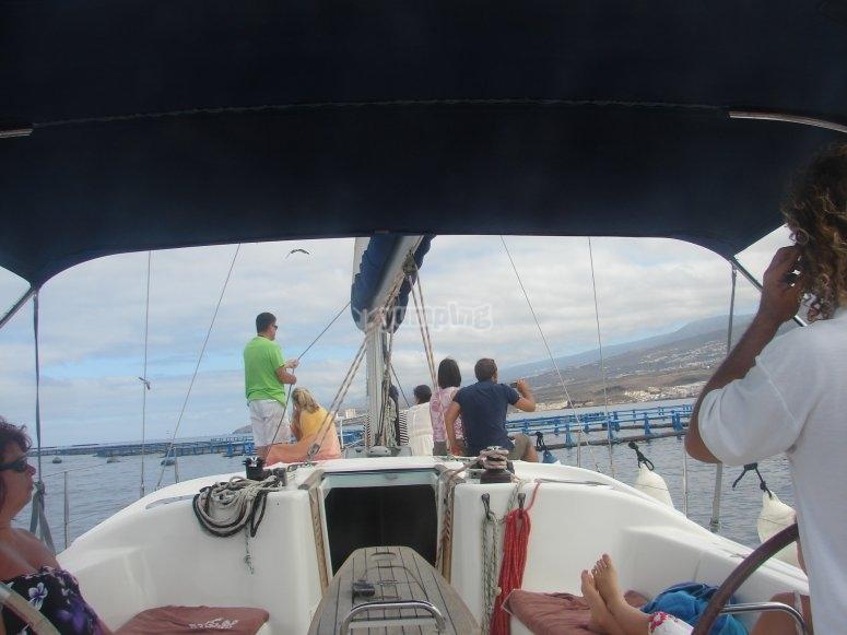 帆船游览特内里费岛