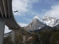 Bungee jumping in the Pyrenees