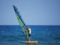Using the windsurfing board