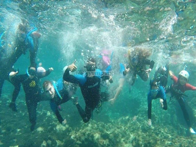 在加那利群岛潜水