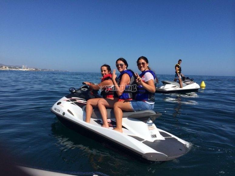 Ruta en moto de agua por Costa del Sol