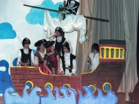 Pirate ship on stage