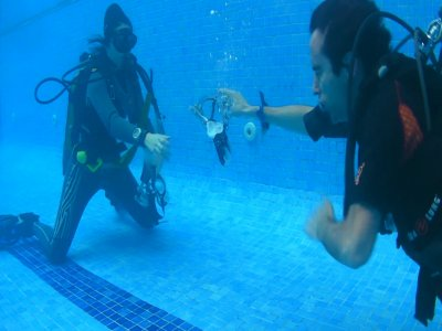 Advanced diving training in Madrid