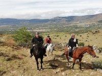 Nella sierra de Guadarrama a cavallo