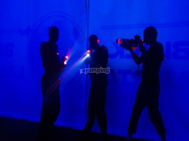 Laser tag en Cofrentes