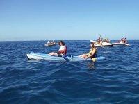 Kayak en el Atlántico