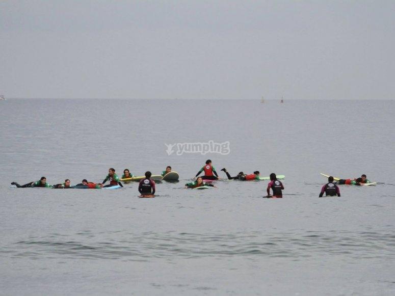 测试冲浪板