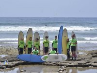 El grupo en la playa
