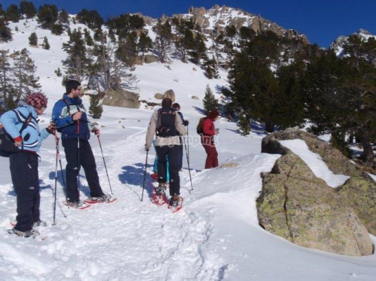 Raquetas de nieve en Cataluña