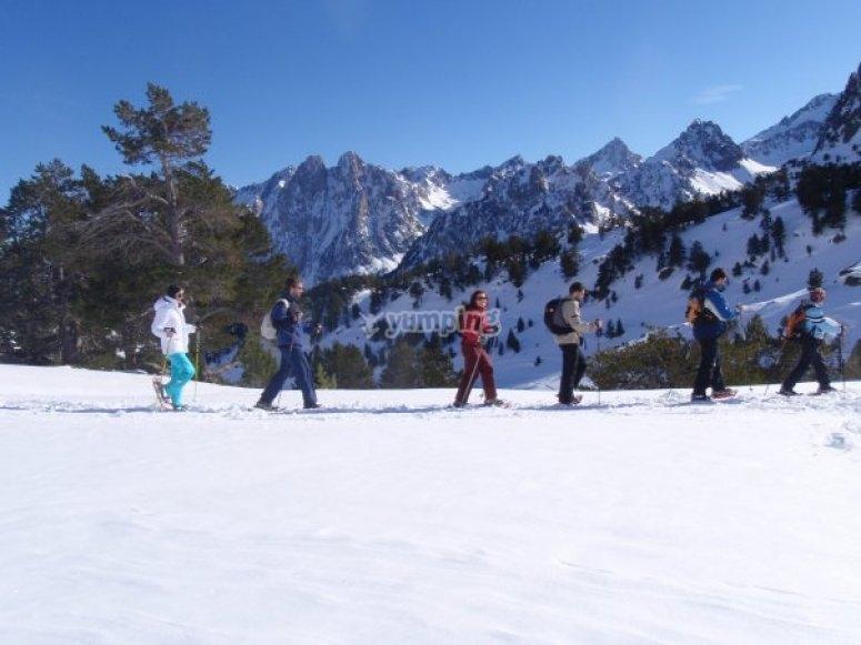 Raquetas de nieve para toda la familia