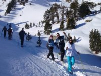 与雪鞋Sant Maurici湖一起出游