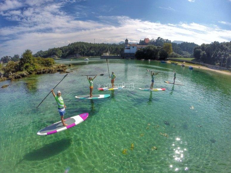 Paddle surf nelle Asturie