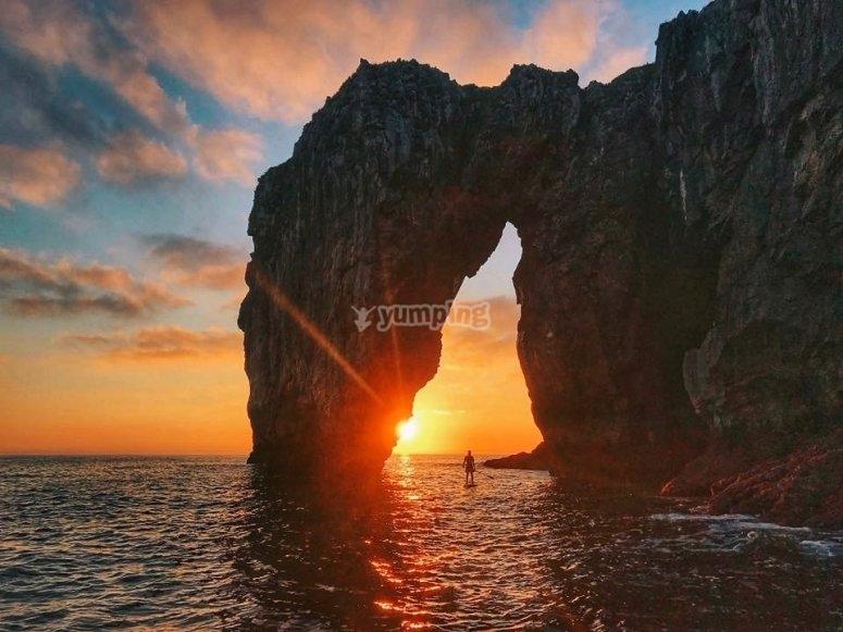 日落桨式冲浪