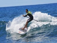Haciendo paddle surf