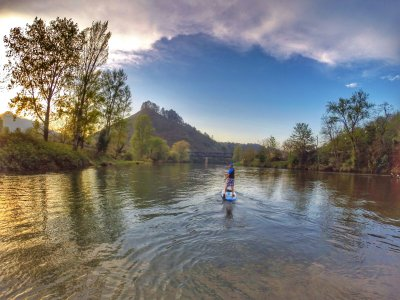 Stand Up Paddle Surf route nel fiume Sella o Deva