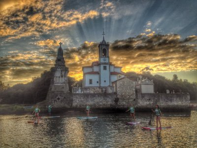 Sunset Stand Up Paddle Surf, Llanes Asturias