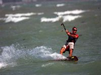 kiter in action