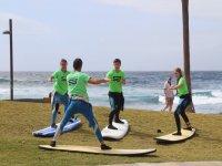 Entrenamientos de surf en tierra