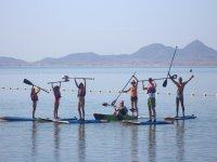 Group SUP in Los Alcazares