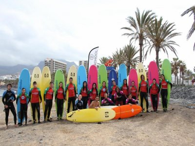 Clase Surf 2 h nivel intermedio sur de Tenerife