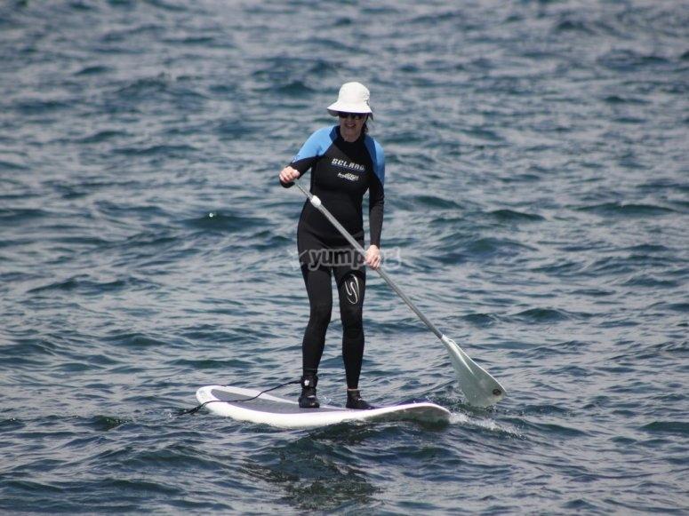 practica en el agua