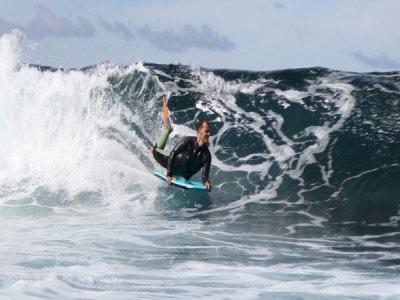 在Playa delasAméricas的Bodyboarding