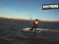 Kiteando en el Ebro