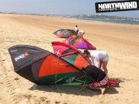 Preparando el equipo de kite