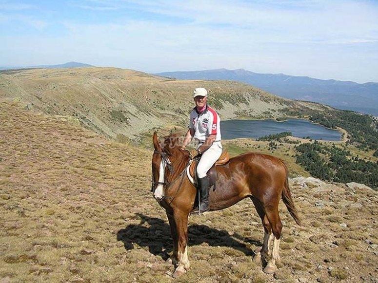 Unas vistas apasionantes, a caballo