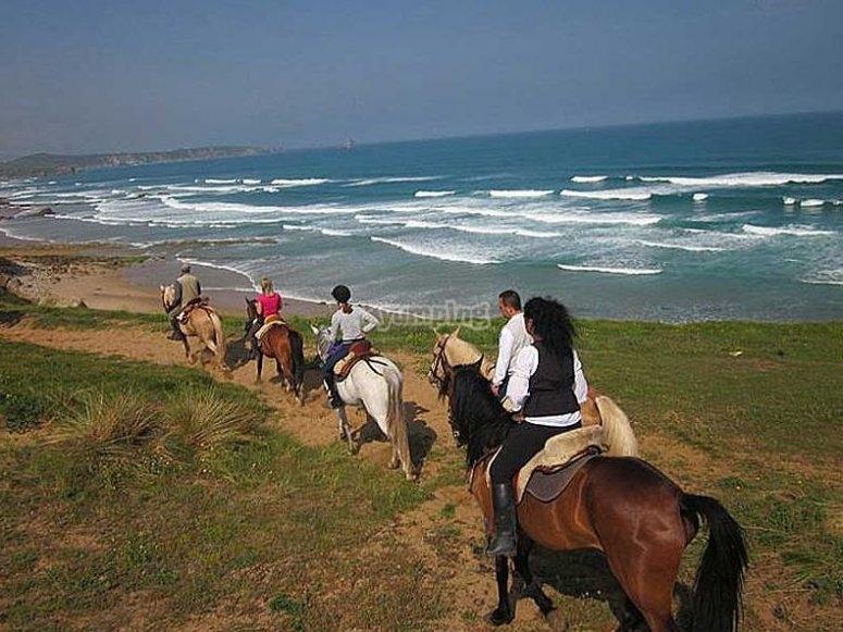 Ruta costera a caballo
