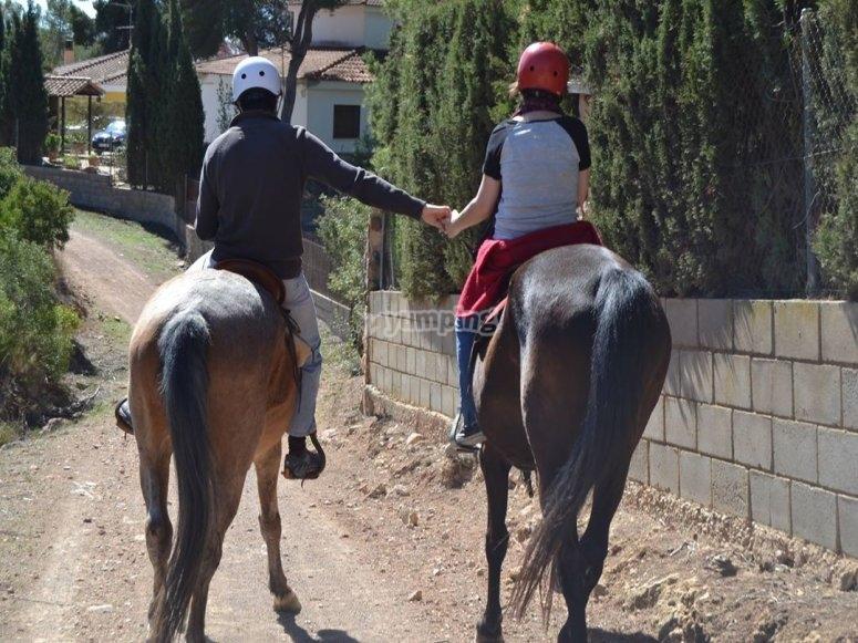 Paseando a caballo en vilamarxant