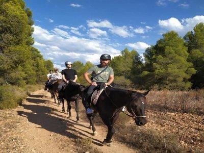 Ruta caballo y fotos despedida soltero Vilamarxant
