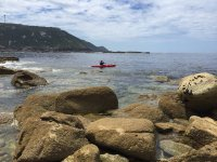 Remando en kayak por la Costa da Morte
