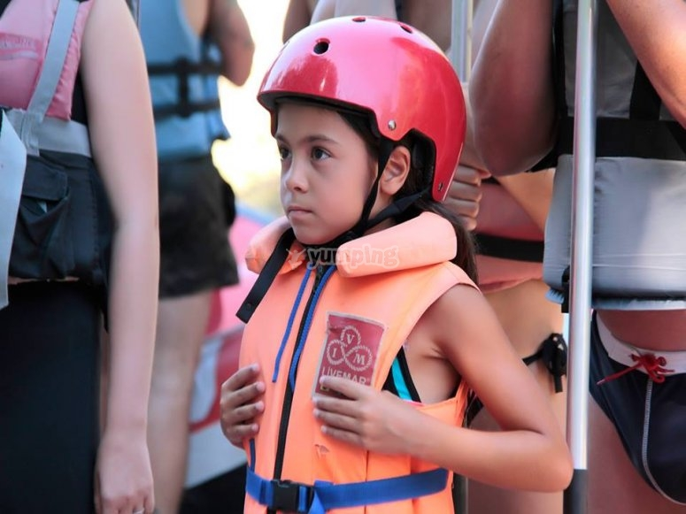 Rafting for schools in Noguera