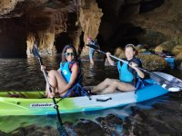 Kayak and caving on the same route