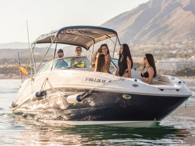 Rent a speedboat with patron in Marbella 4h 30 min
