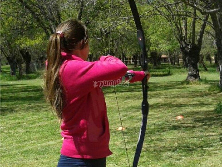 practicando arco en madrid