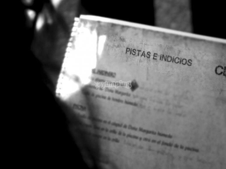 Cluedo interrogation book in Madrid