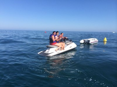 Ruta en 2 motos de agua biplaza en marbella 1 hora