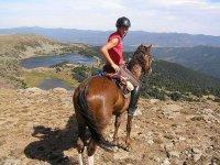 Disfruta de las vistas a caballo