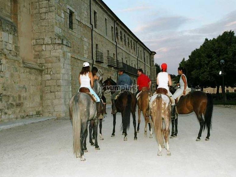 Ruta del vino a caballo