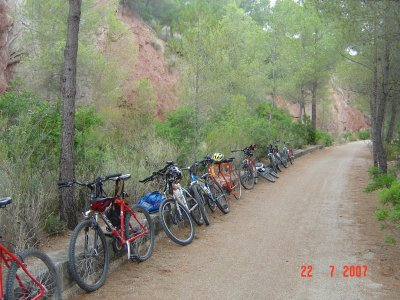 MTB tour for students in Reserva de Sebes, Flix