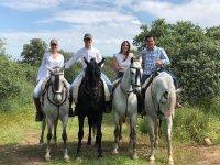 Comenzando la ruta con los caballos